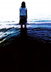 九州女子大学・同短期大学演劇部第2回卒業公演『月のあしあと』チラシ