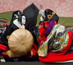 人形浄瑠璃『文楽』写真:青木信二(「義経千本桜道行」)