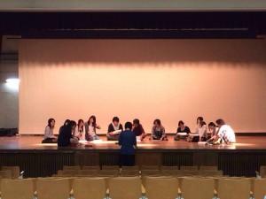 福岡大学学術文化部会演劇部 稽古風景