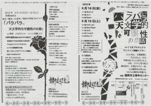 快楽のまばたき『バラバラ~天文学的な可能性のお話』福岡公演チラシ