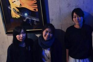 灯台とスプーンのメンバー(左から田村さえ、柳田詩織、安藤美由紀)