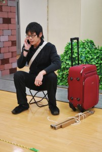 劇団ひまわり福岡アクターズスクール第16期研究科中間発表作品『また、この道の途中で』稽古風景