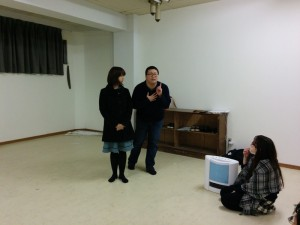 北九州市立大学演劇研究会 2016年冬公演『at Home』稽古風景