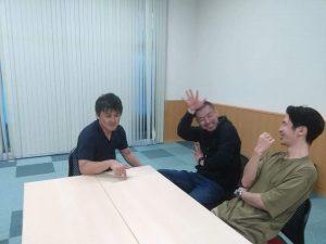 左から、渡邉享介、荒木宏志、千田智士