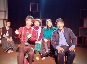 先頭左から、木村健二(飛ぶ劇場)、森川松洋(バカボンド座)